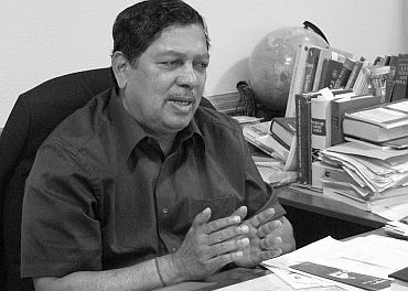 The Lokayukta Justice Santosh Hegde