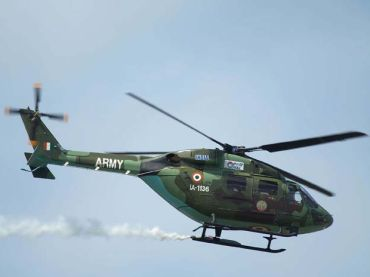 Indian Army's Advanced Light Helicopter in action over Farnborough