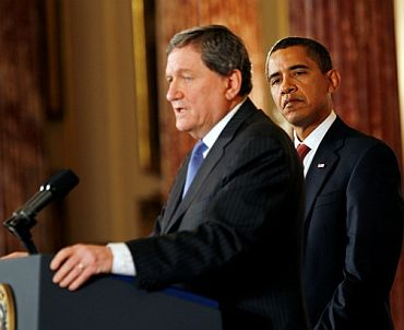 Richard Holbrooke with US President Barack Obama
