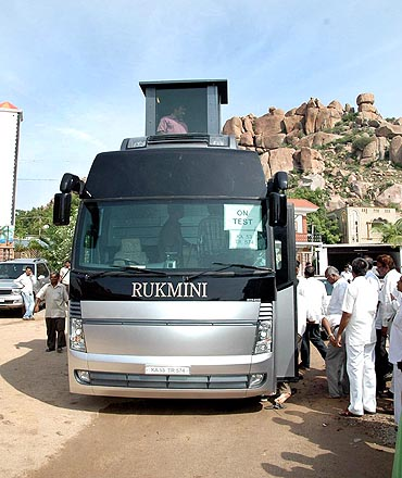 Janardhan Reddy's Rs 4 crore bus