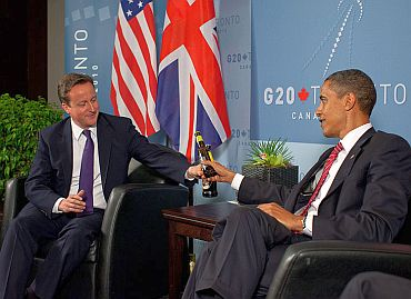 Cameron with US President Barack Obama