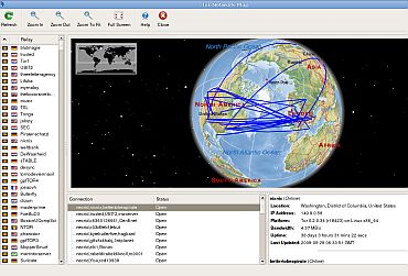 A screenshot of the Tor network