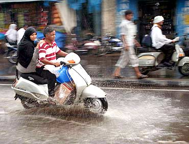 First showers in Hyderabad on Tuesday evening