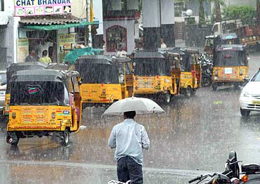 Rains were badly needed in the city