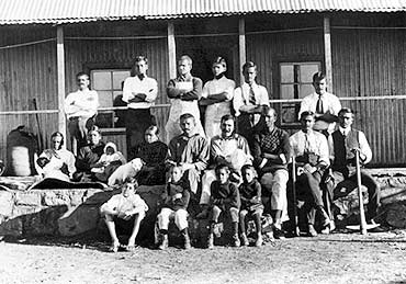A file photograph of the inhabitants of the Tolstoy Farm