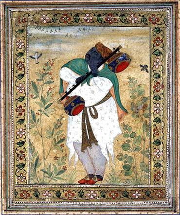 The vina player Naubat Khan Kalawant