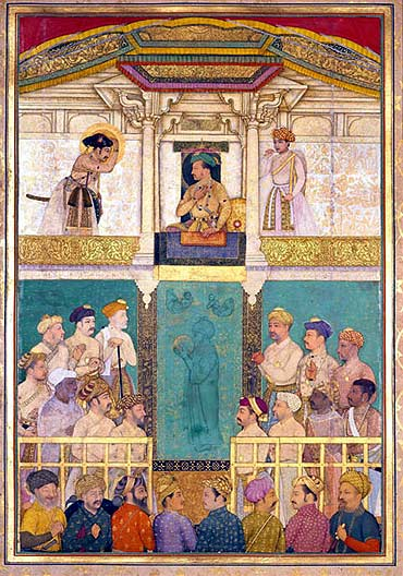Jahangir receiving Prince Khurram at Ajmer
