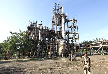 The Union Carbide Corp pesticide plant in Bhopal