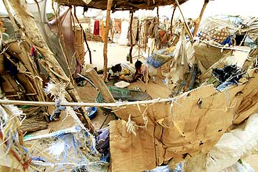 An IDP camp in strife-torn Darfur
