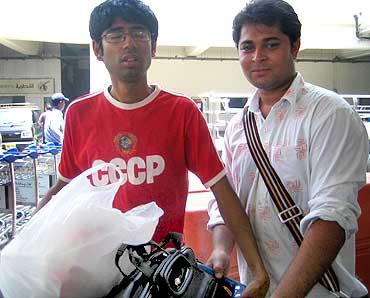 Amrit Das with a friend