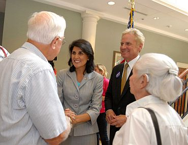 Nikki Haley and Henry McMaster at the event