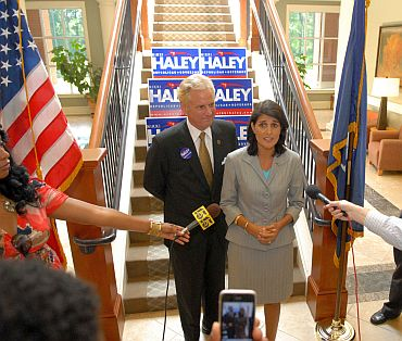 Haley and McMaster address the media