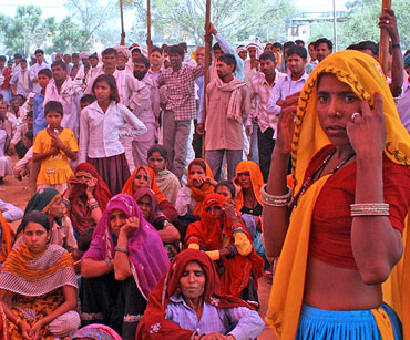 An election rally in Dausa, Rajasthan