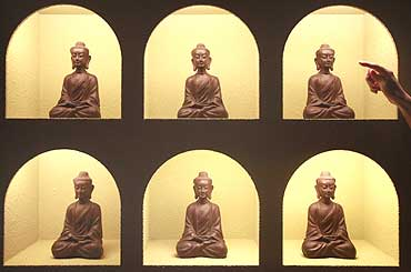 Chocolate Buddha figurines