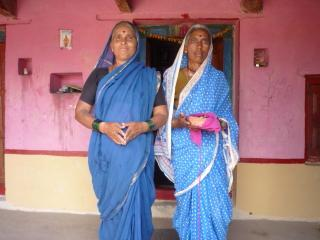 Radha Bai and Anjan Bai, residents of the village