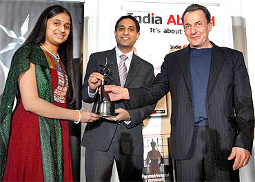 Kavya Shivashankar with Jay Goyal and Neal Simon