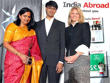 Priyamvada Natarajan, Manjul Bhargava and Jamie Haenggi