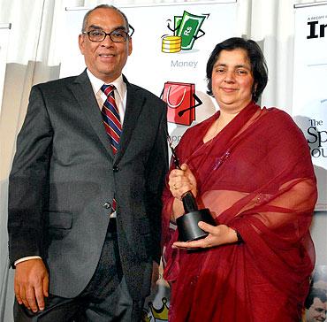 Madhulika Sikka with Ajit Balakrishnan