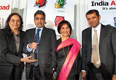 Sonny Mehta, Padma Desai, Madhur Jaffrey and Suketu Mehta