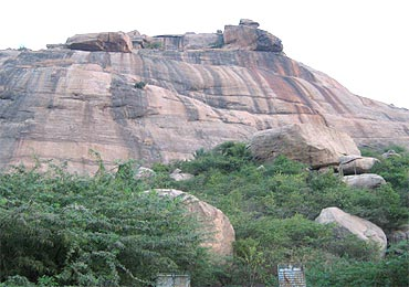 The Yanaimalai hills in Tamil Nadu