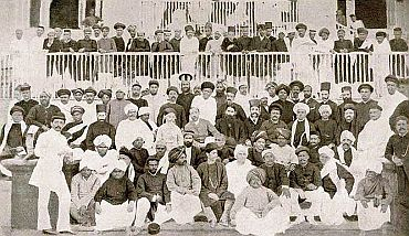 File photo shows delegates at the first session of the Congress in 1885