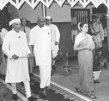File photo shows Kamaraj (Centre) with Nehru and Indira Gandhi