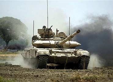 File photo of the Russian T-90
