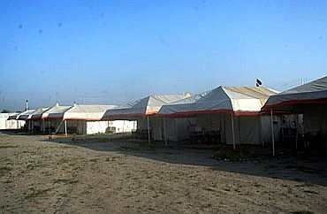 Luxury tents at the Mela venue