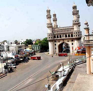 Curfew in Hyderabad to be relaxed on Thursday - Rediff com