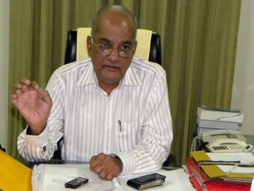 Vijay Raman, Special Director General, Anti Naxal Task Force, at his office in Raipur