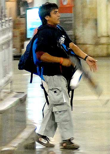 File photo of Ajmal Kasab taken during the Mumbai attack