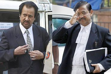 Abbas Kazmi, left, quit as defence lawyer later. Right: Public Prosecutor Ujjwal Nikam