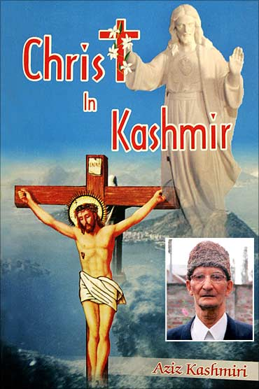 The book's cover. Inset: Aziz Kashmiri, the author