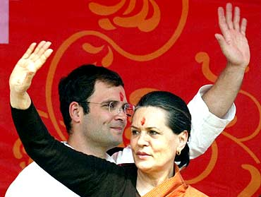 Sonia Gandhi with her son Rahul