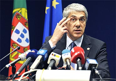 Portugal's Prime Minister Jose Socrates Carvalho Pinto de Sousa
