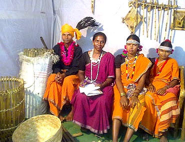Tribals at a fair in Raipur