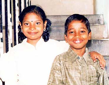 File picture of Krishnaveni (left) and Ravi