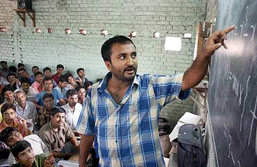 Anand Kumar in his classroom