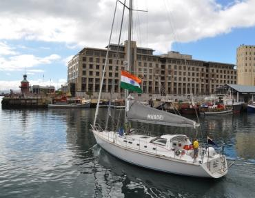 The Mhadei leaves Cape Town harbour