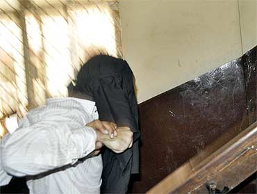 Sammad being produced in a Mumbai court