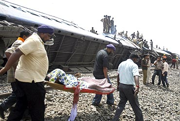 Injured victims were rushed to nearby Kharagpur