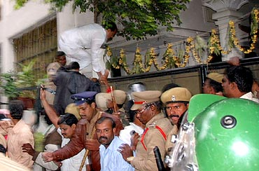 Protestors ransack AP minister Dr Geeta Reddy's residence