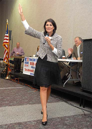 Nikki Haley on the campaign trail