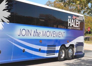 Nikky Haley's Join the Movement bus