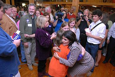 Nikki Haley greets Republicans at her final campaign event