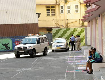 A US security team pays the school a visit