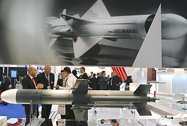 The international land and naval system Defence Expo 2010 in New Delhi