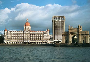 A view of the iconic Taj Palace hotel