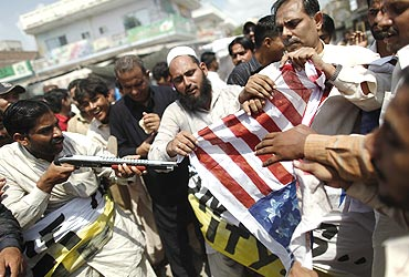 An anti-American protest in Pakistan