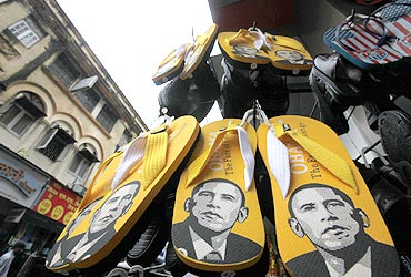 Obama is everywhere: On slippers, eggs and books!